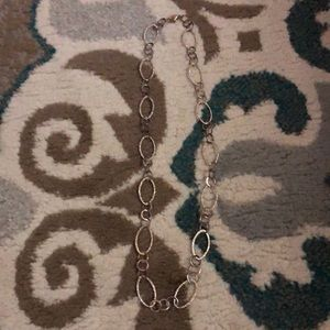 Jewelry - Sterling silver hammered Oval link Necklace